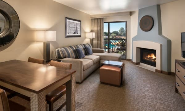 Look out over the sparkling waters of our pool from your room.