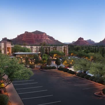 Our resort among the red rock landscape