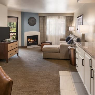 Feel at home in our oversized living and dining areas.
